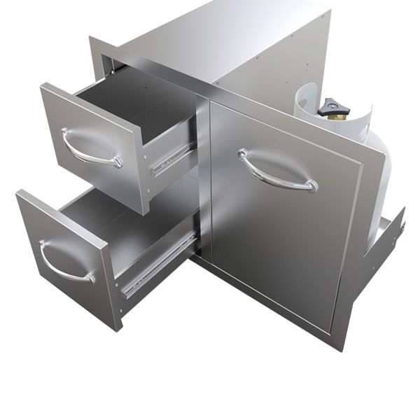 "Sunstone Tank Tray with Double Drawer Combo - 30"" image number 4"