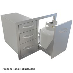 """Sunstone Tank Tray with Triple Drawer Combo - 30"""""""