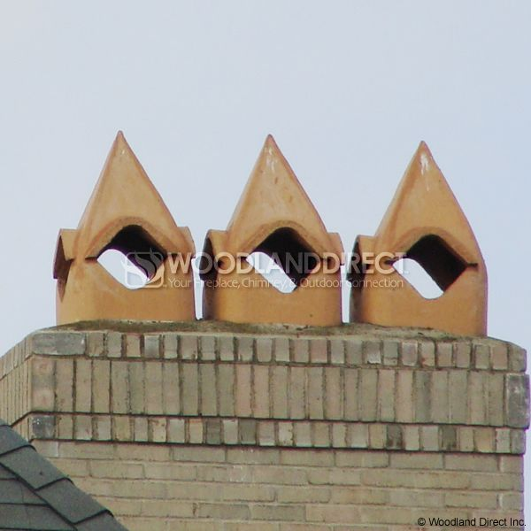 Superior Cathedral Clay Chimney Pot image number 1