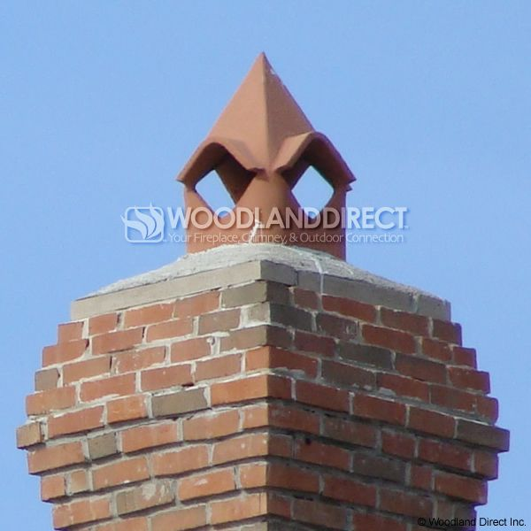 Superior Cathedral Clay Chimney Pot image number 2