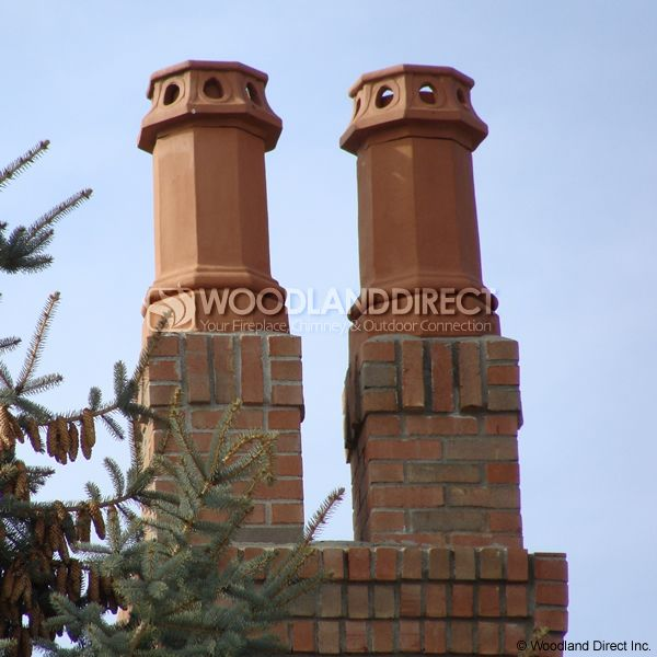 Superior Camelot Clay Chimney Pot image number 1