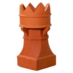 Superior Bishop Clay Chimney Pot