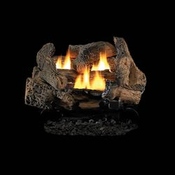 Superior Golden Oak Ventless Gas Log Set