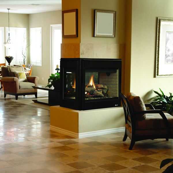 Superior DRT35PF Direct Vent Peninsula Gas Fireplace image number 0