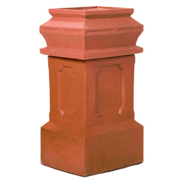 Superior Large Governor Clay Chimney Pot image number 0