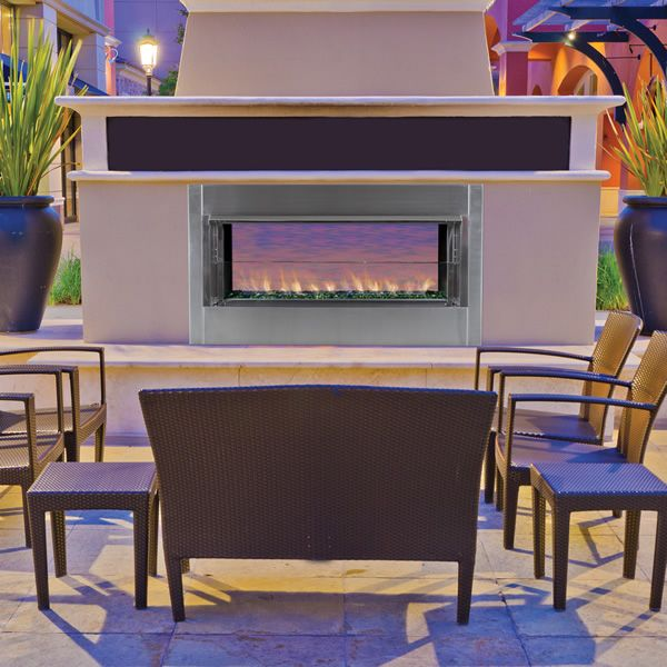 Superior VRE4543 Linear See Through Gas Outdoor Fireplace image number 0