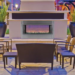 Superior VRE4543 Linear See Through Gas Outdoor Fireplace