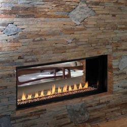 Superior VRL4543 Ventless See Through Linear Gas Fireplace - 43""