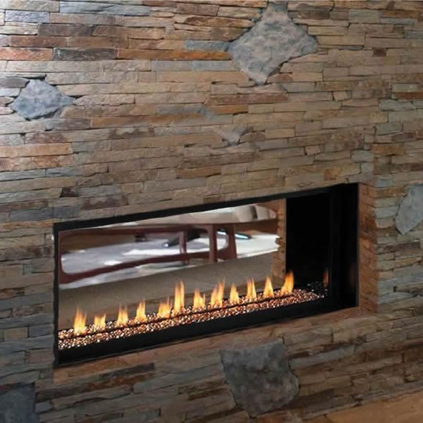 "Superior VRL4543 Ventless See Through Linear Gas Fireplace - 43"" image number 0"