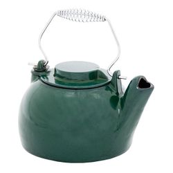 Porcelain Enamel Green Wood Stove Kettle