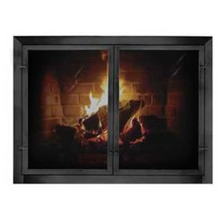 Patio Outdoor Masonry Fireplace Door