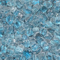 """Pacific Blue - 1/2"""" Fire Glass- 10 lbs."""