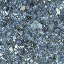 "Pacific Blue Reflective - 1/4"" Fire Glass- 10 lbs."
