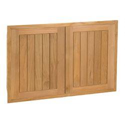 """Pacific Teak Cottage Panel Double Access Door - 34"""""""