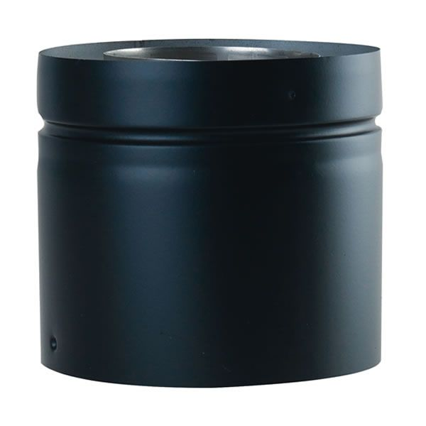 """Painted Black Adapter for Direct Vent Pipe - 5"""" Dia image number 0"""