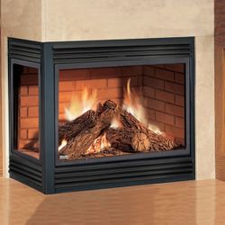 Painted Black Upper and Lower Fireplace Louver
