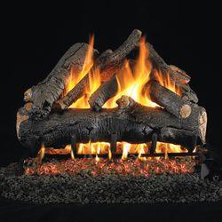Real Fyre American Oak Outdoor Vented Gas Log Set