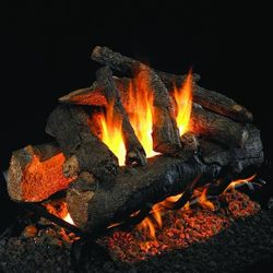 Peterson Real Fyre American Oak Designer See Through Vented Gas Log Set