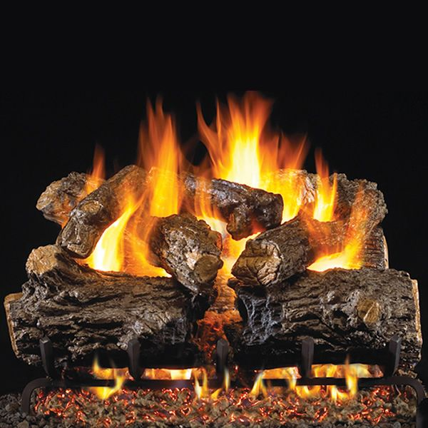 Peterson Real Fyre Burnt Rustic Oak Vented Gas Log Set image number 0