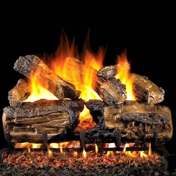 Peterson Real Fyre Burnt Split Oak ANSI Vented Gas Log Set image number 0