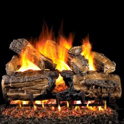 Peterson Real Fyre Burnt Split Oak Vented Gas Log Set