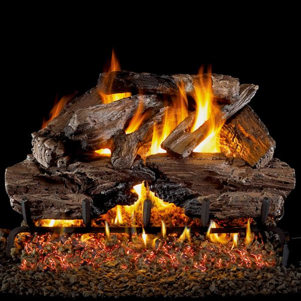 Peterson Real Fyre Charred Cedar ANSI Vented Gas Log Set image number 0