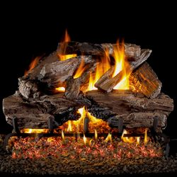 Peterson Real Fyre Charred Cedar Vented Gas Log Set