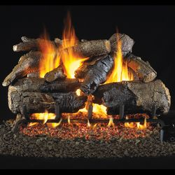 Real Fyre Charred American Oak Outdoor Vented Gas Log Set