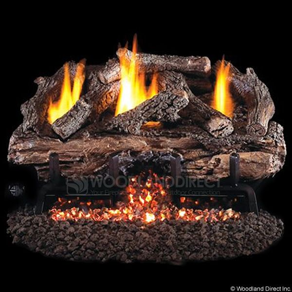 Peterson Real Fyre Charred Aged Split Ventless Refractory Gas Log Set image number 0