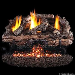 Peterson Real Fyre Charred Aged Split Ventless Refractory Gas Log Set