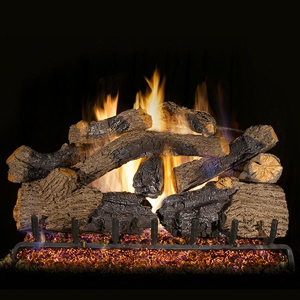 Peterson Real Fyre Charred Grizzly Oak Vented Gas Log Set image number 0