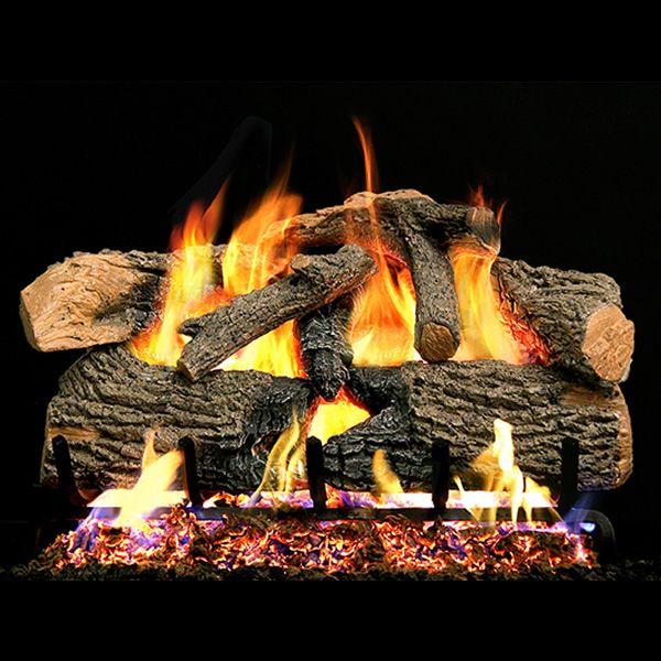 Peterson Real Fyre Charred Evergreen Oak Vented Gas Log Set image number 0