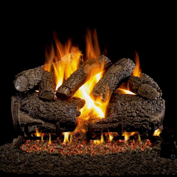 Real Fyre Charred Forest Oak Outdoor Vented Gas Log Set image number 0
