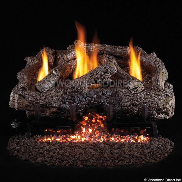 Peterson Real Fyre Charred Frontier Oak Ventless Gas Log Set image number 0