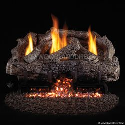 Peterson Real Fyre Charred Frontier Oak Ventless Gas Log Set