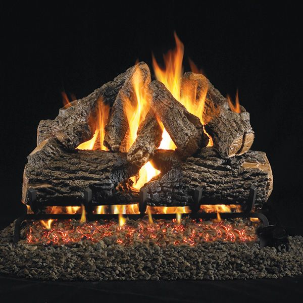 Peterson Real Fyre Charred Oak ANSI Vented Gas Log Set image number 0