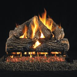 Peterson Real Fyre Charred Oak ANSI Vented Gas Log Set
