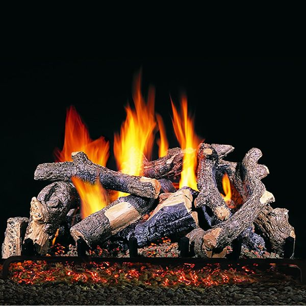 Peterson Real Fyre Charred Oak Stack ANSI Vented Gas Log Set image number 0