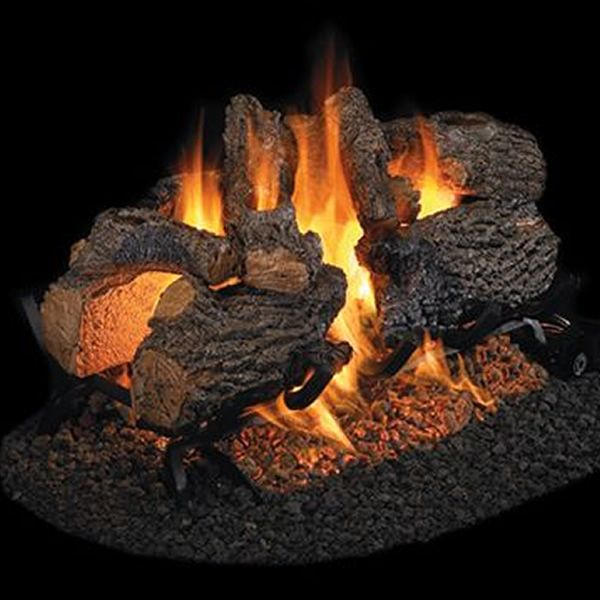 Peterson Real Fyre Charred Oak See Through Vented Gas Log Set image number 0