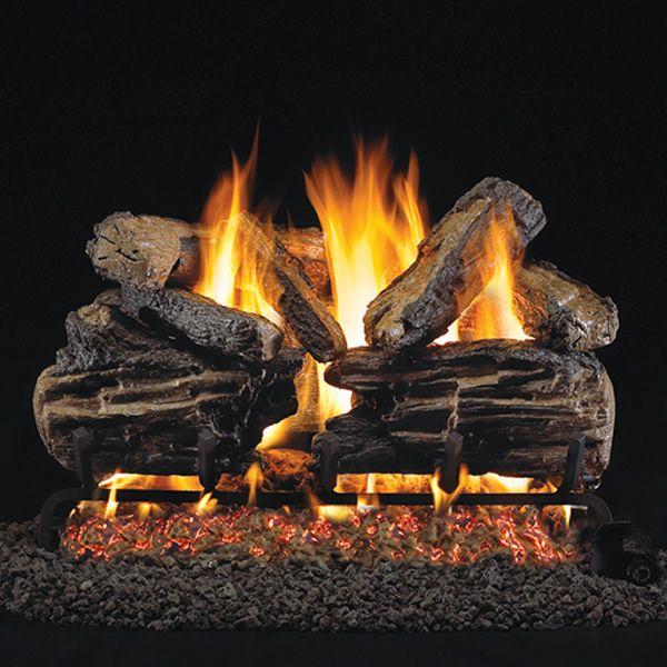 Peterson Real Fyre Charred Split ANSI Vented Gas Log Set image number 0