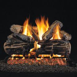 Real Fyre Charred Split Oak Outdoor Vented Gas Log Set