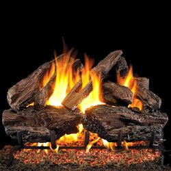 Peterson Real Fyre Charred Red Oak Vented Gas Log Set