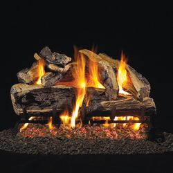 Peterson Real Fyre Charred Rugged Split Oak ANSI Vented Gas Log Set