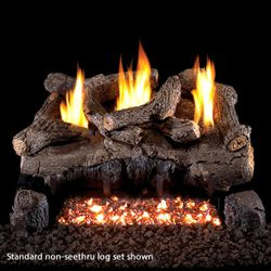 Peterson Real Fyre Evening Fyre Charred See Through Ventless Gas Log Set