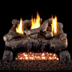 Peterson Real Fyre Evening Fyre Charred Ventless Gas Log Set