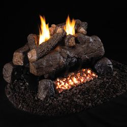 Peterson Real Fyre Evening Fyre See Through Ventless Gas Log Set