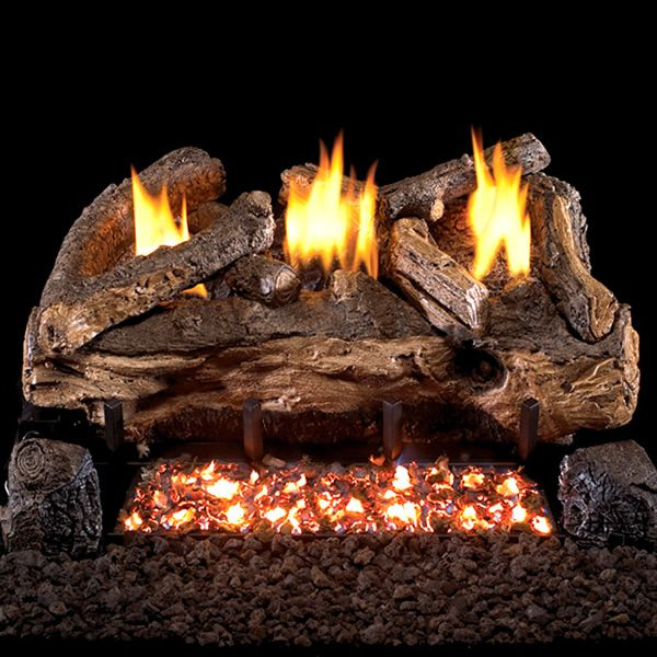 Peterson Real Fyre Evening Fyre Split Ventless Refractory Gas Log Set image number 0