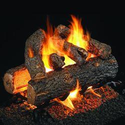 Real Fyre Golden Oak Designer Plus Outdoor Vented Gas Log Set