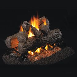 Peterson Real Fyre Golden Oak Designer See Through Vented Gas Log Set