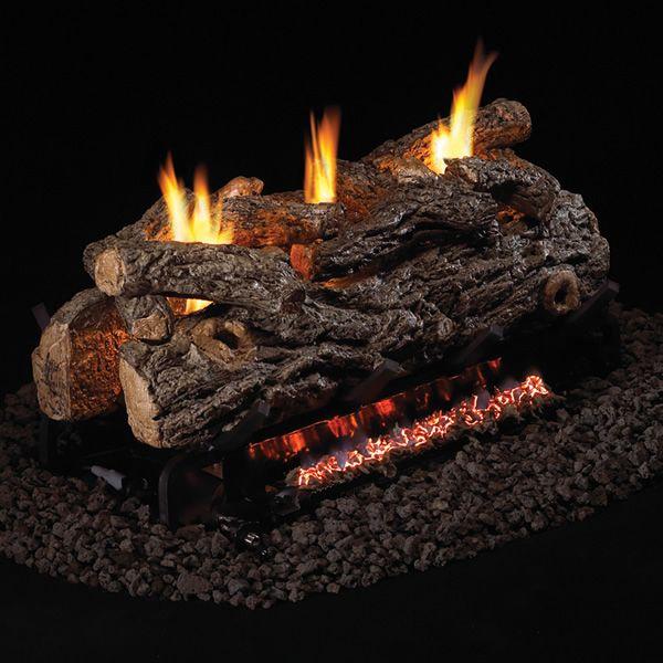 Peterson Real Fyre Golden Oak Designer See Through Ventless Gas Log Set image number 0
